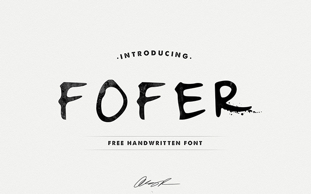 10 Best Handwriting Fonts for Graphic Designers-fofer